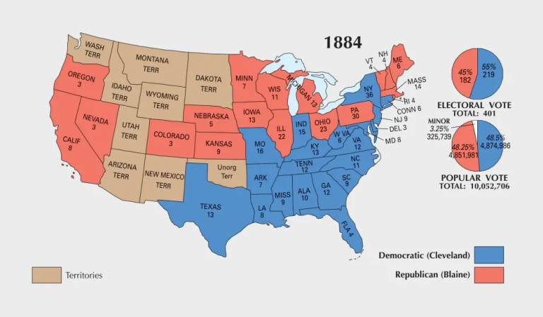 US Election of 1884 Map