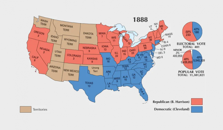 US Election of 1888 Map