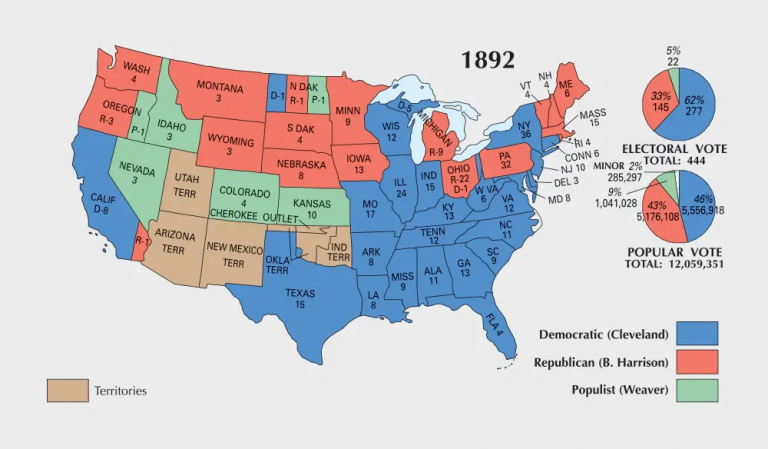 US Election of 1892 Map