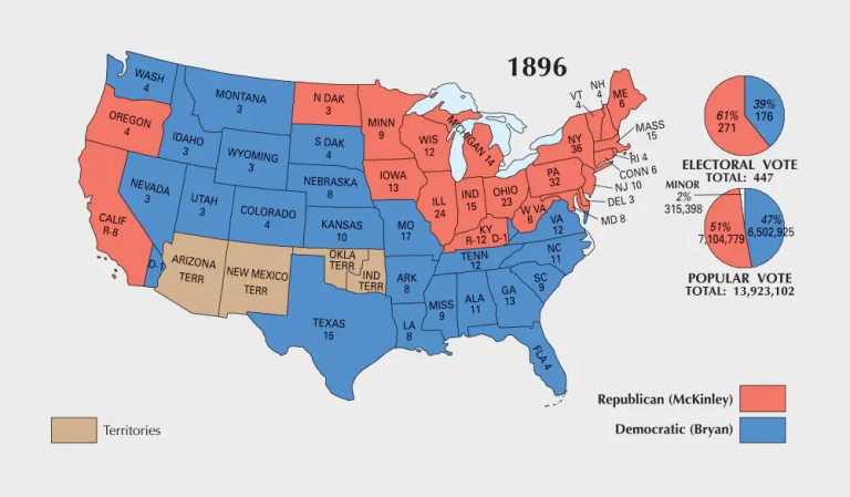 US Election of 1896 Map