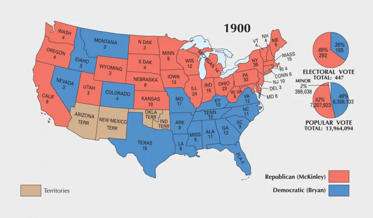 US Election of 1900 Map