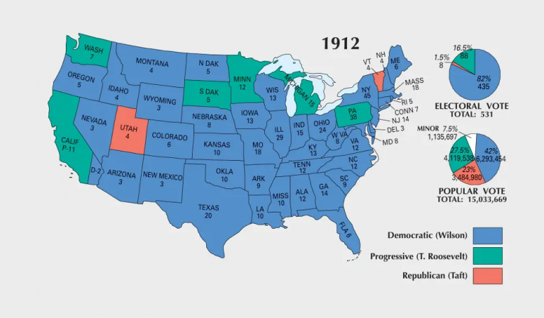 US Election of 1912 Map