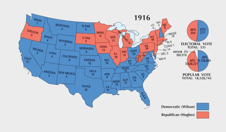 US Election of 1916 Map