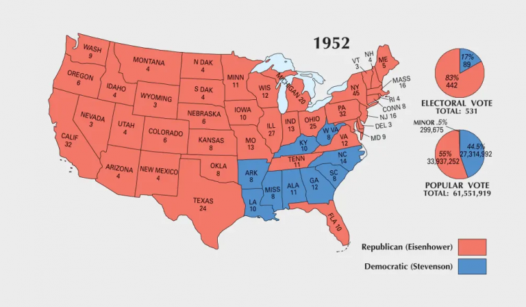US Election of 1952 Map