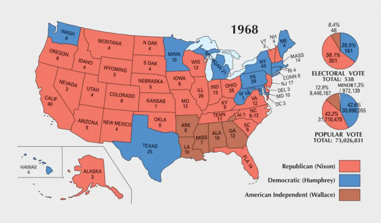 US Election of 1968 Map