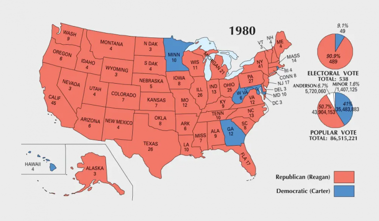 US Election of 1980 Map