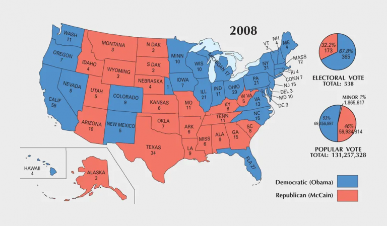 US Election of 2008 Map