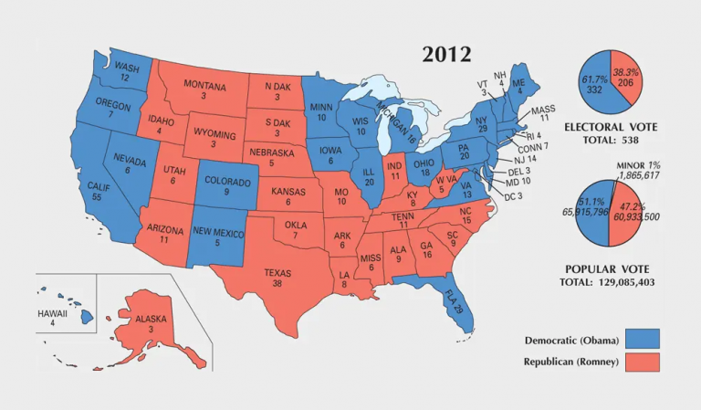 US Election of 2012 Map