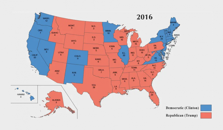 US Election of 2016 Map