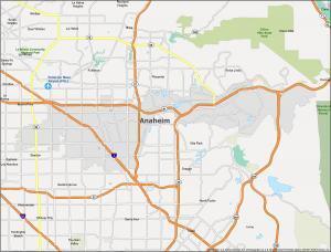 Anaheim Map California