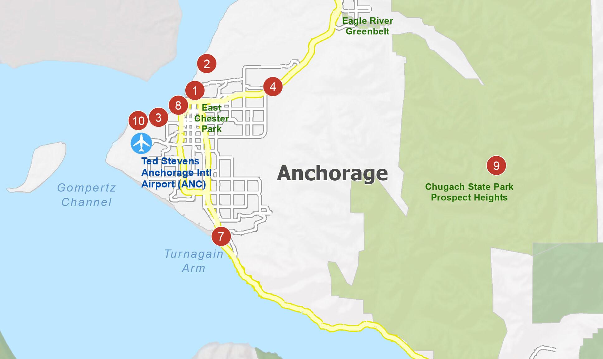 Anchorage Map Alaska Gis Geography