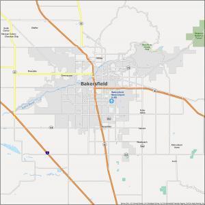 Bakersfield Map California