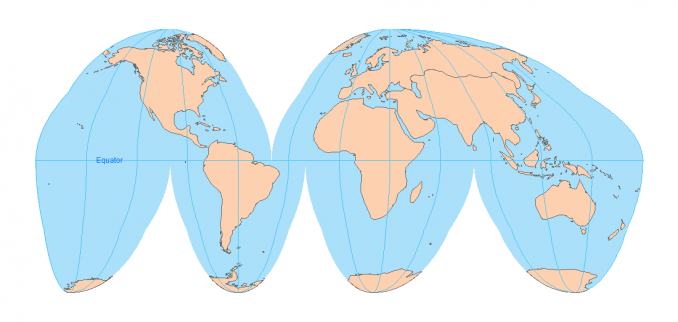 Goode Projection - A Type of Map Projection