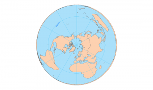 north pole lambert azimuthal equal area
