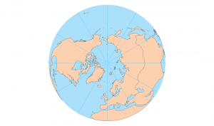 north pole orthographic