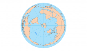 south pole azimuthal equidistant