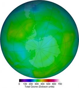Antarctica Ozone Map