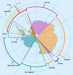 Antarctica Territories Map