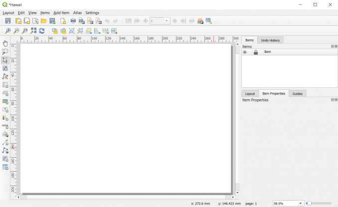 QGIS blank print layout