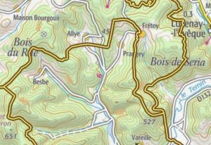 topographic maps france
