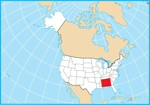 Alabama Map United States