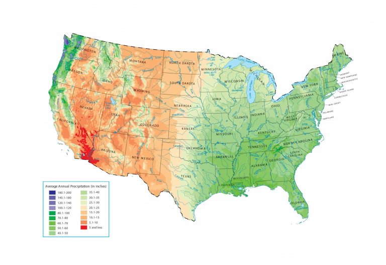 US Precipitation Map