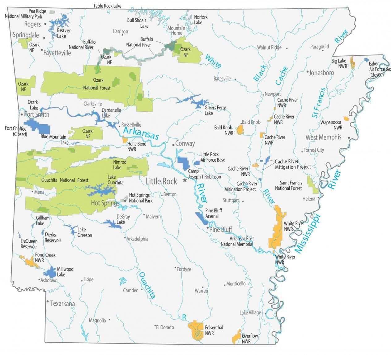 Arkansas State Map