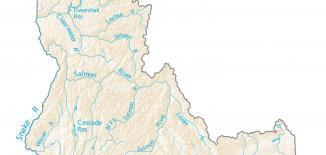 Idaho Lakes and Rivers Map