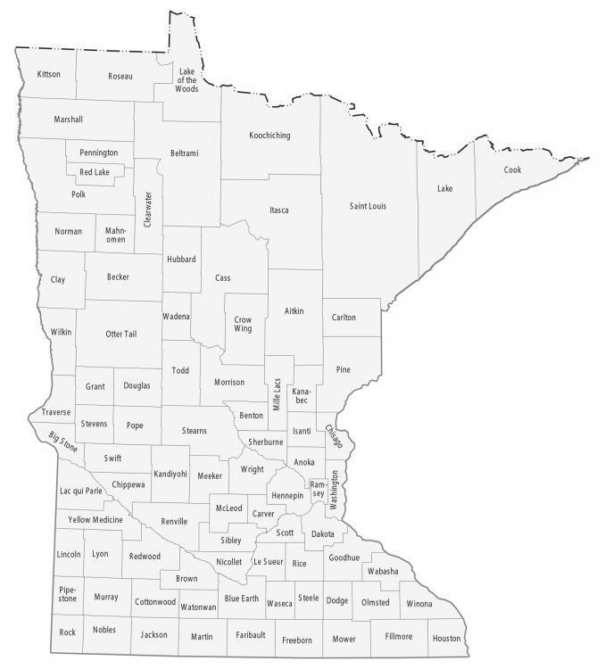 Minnesota County Map