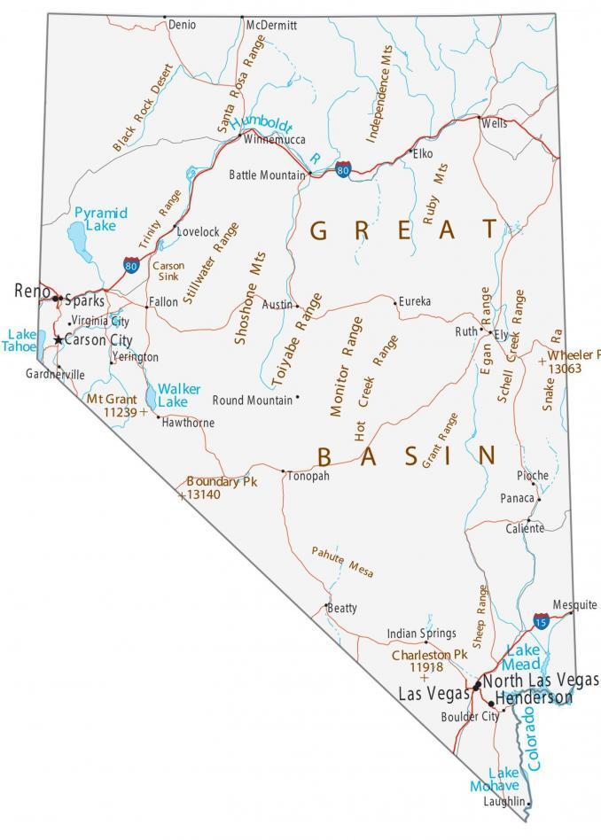 Nevada Map