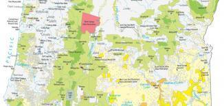 Oregon State Map