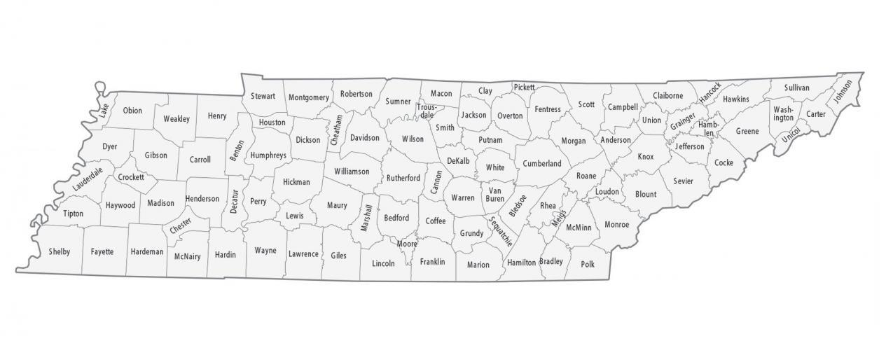 Tennessee County Map