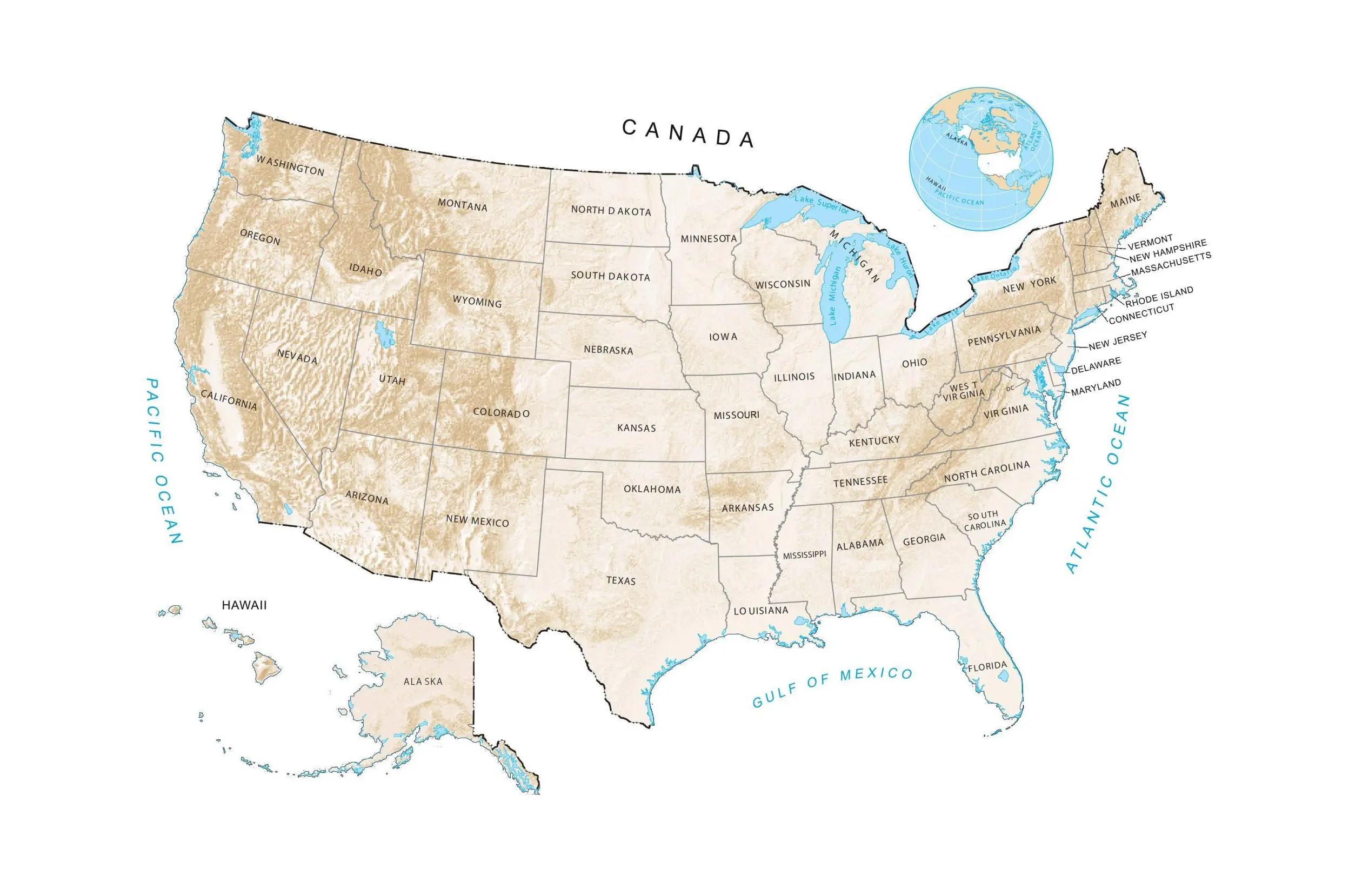 US Hillshade Feature