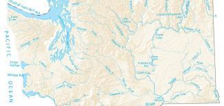 Washington Lakes and Rivers Map