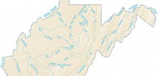 West Virginia Lakes and Rivers Map
