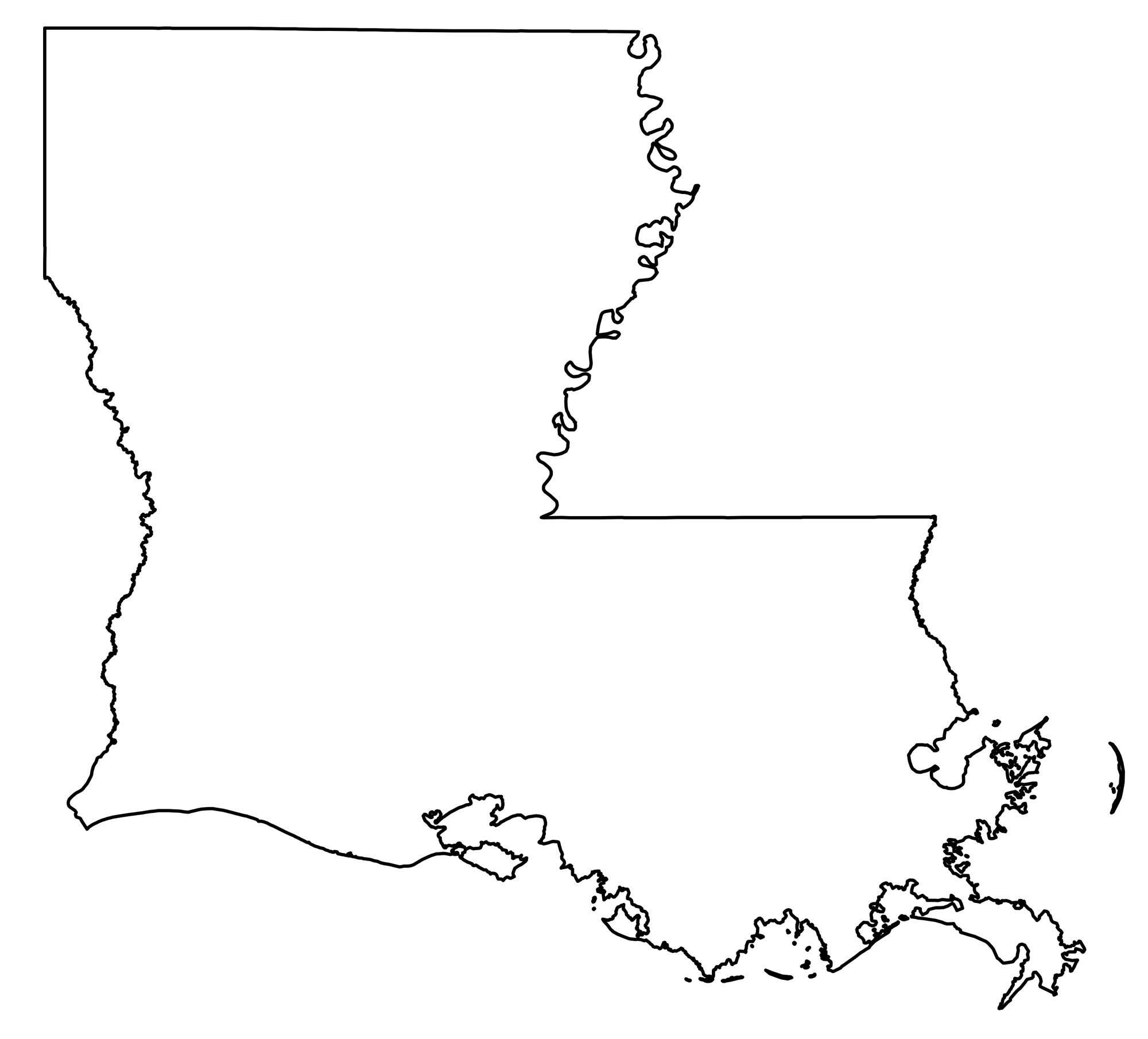 Louisiana Outline Map