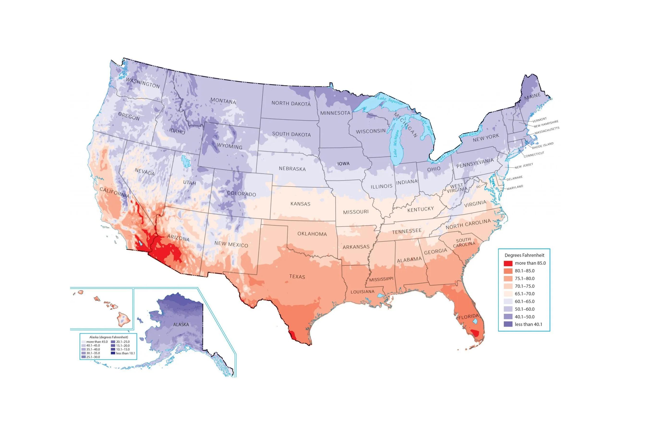 US Temperature Map Feature