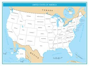 United States Map Simple