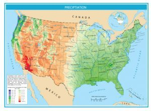 United States Map of Precipitation