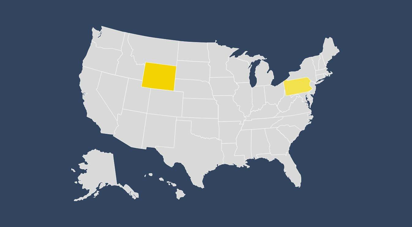 State Outlines Blank Map United States