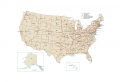 US Road Map: Interstate Highways in the United States