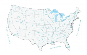US Lakes Rivers Feature