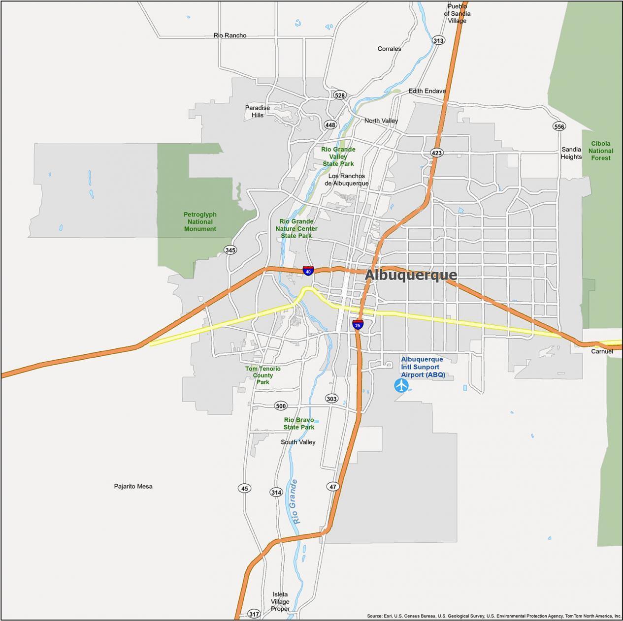 Albuquerque Map New Mexico