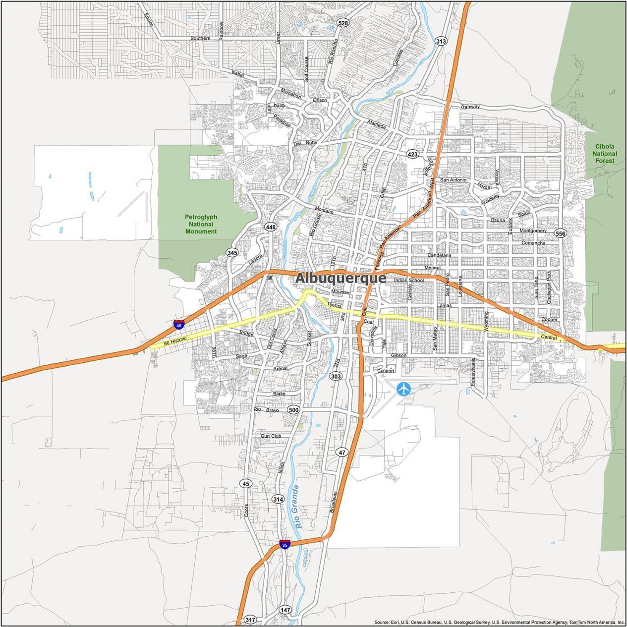 Albuquerque Road Map