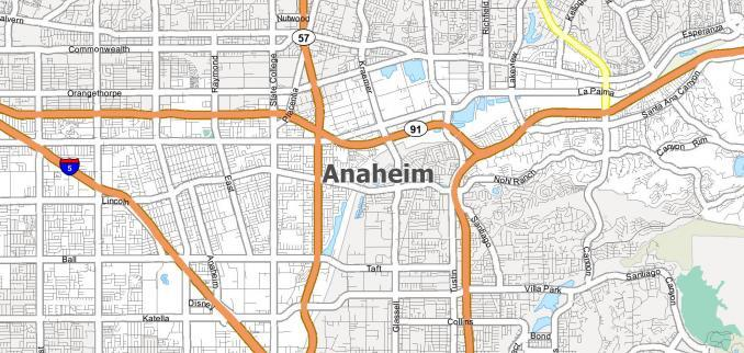 Anaheim Map Feature