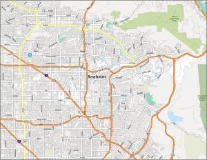 Anaheim Road Map