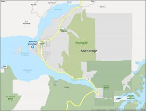Anchorage Map Alaska