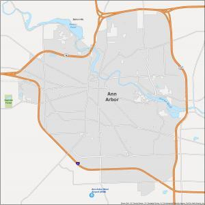 Ann Arbor Map Michigan
