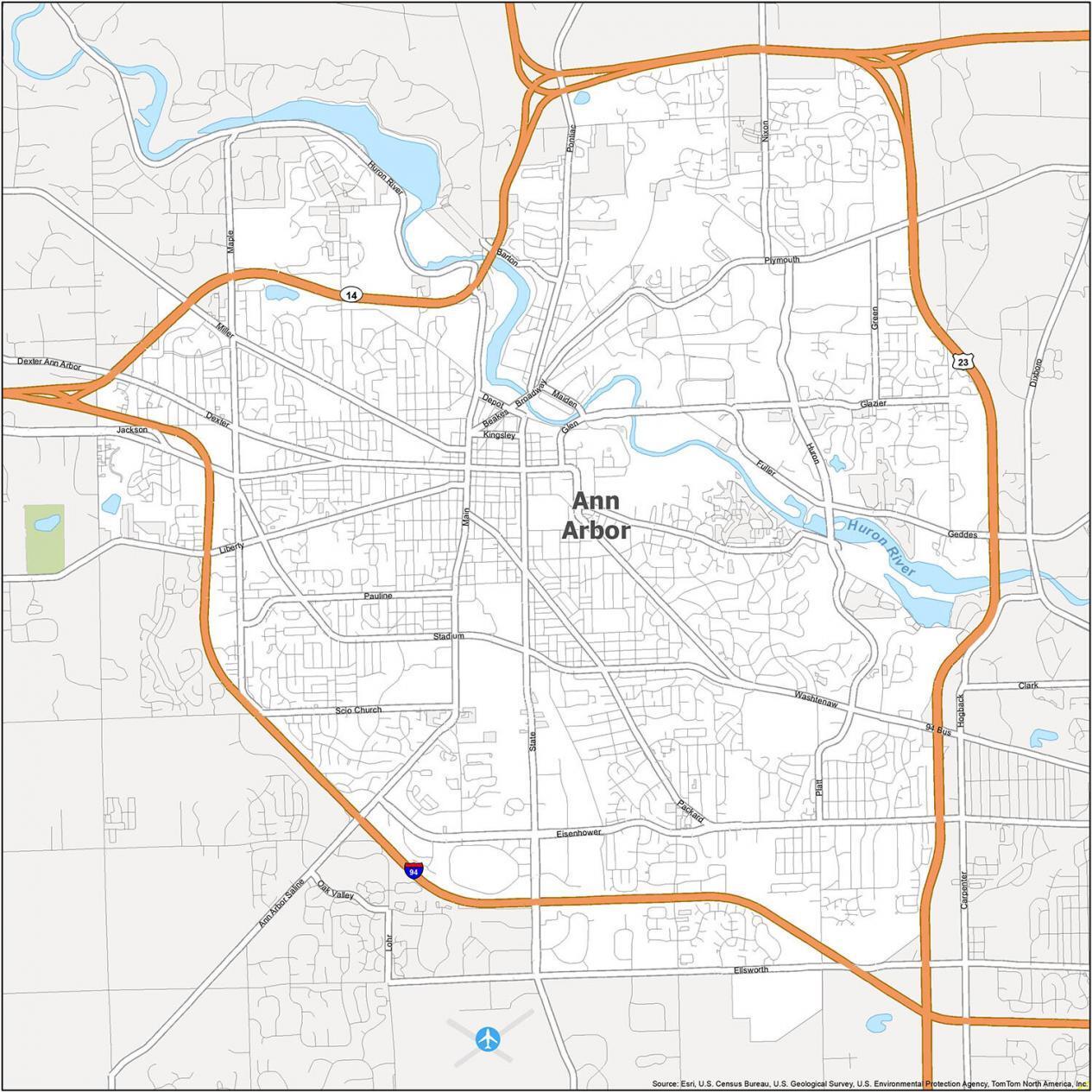 Ann Arbor Road Map