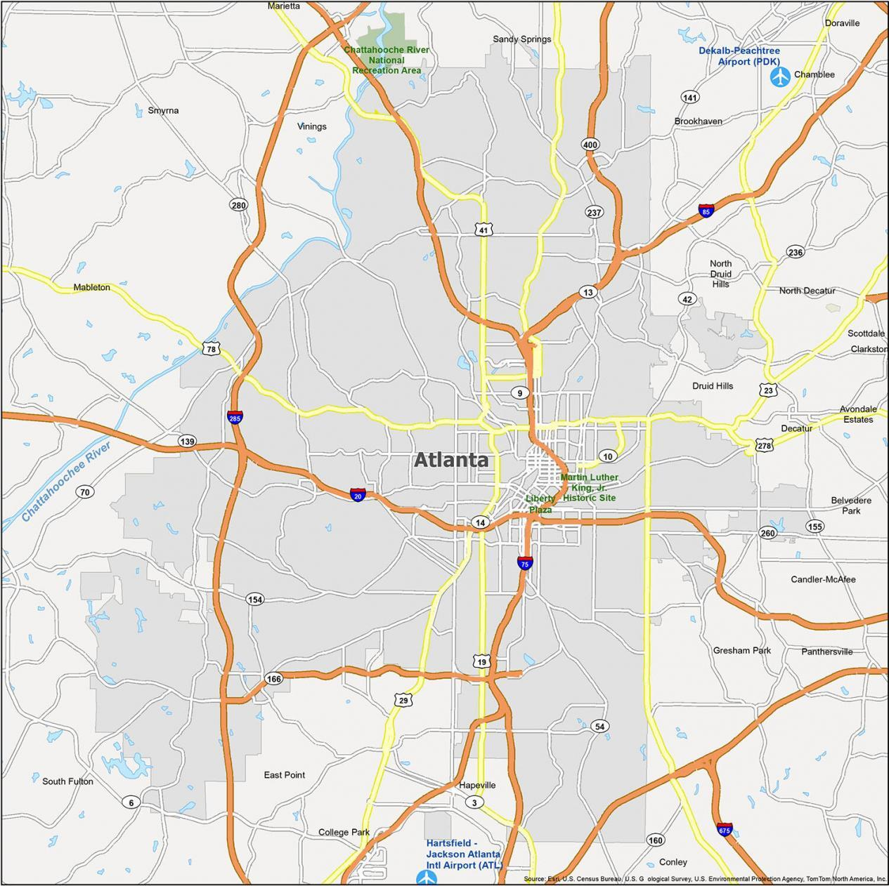 Atlanta Map Georgia
